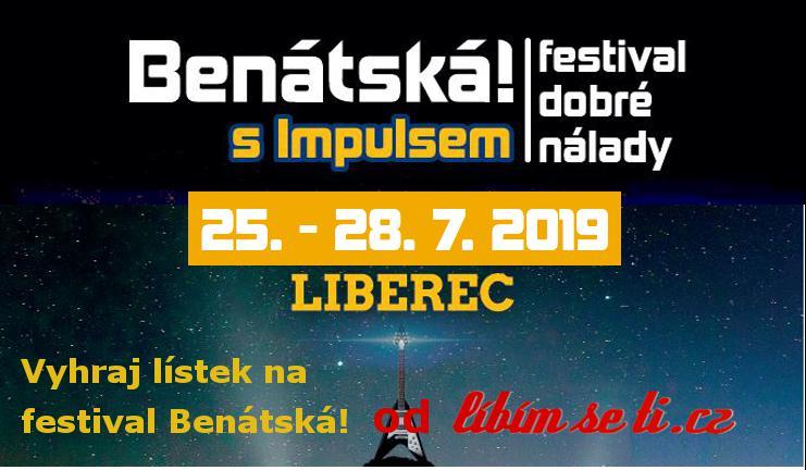 Lístky na festival Benátská! 2019 Liberec